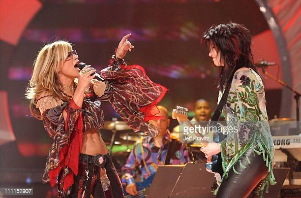 Anastacia and Meredith Brooks during VH1 Divas 2002 Show at MGM Grand Arena in Las Vegas Nevada United States