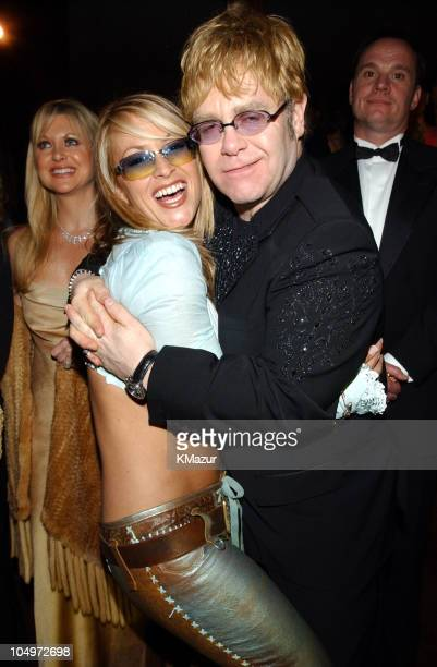 Anastacia and Sir Elton John during The 10th Annual Elton John AIDS Foundation InStyle Party Inside at Moomba Restaurant in Hollywood California...