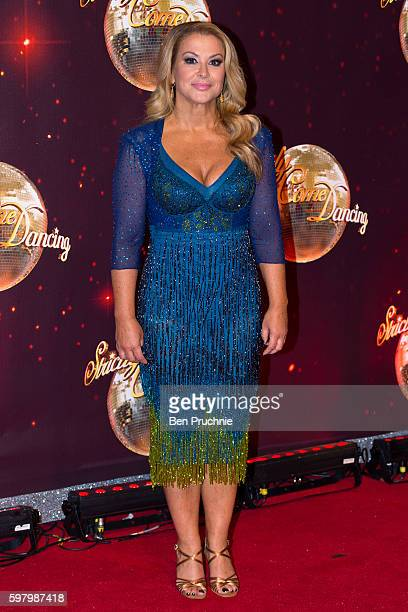 Anastacia arrives for the launch of 'Strictly Come Dancing 2016' at Elstree Studios on August 30 2016 in Borehamwood England