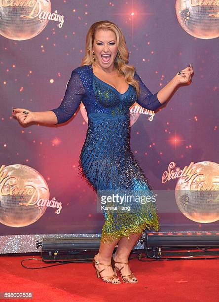 Anastacia arrives for the Red Carpet Launch of 'Strictly Come Dancing 2016' at Elstree Studios on August 30 2016 in Borehamwood England
