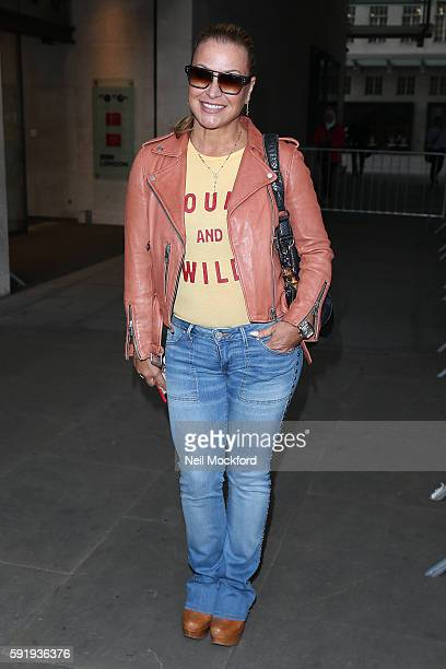 Anastacia at BBC Radio One on August 19 2016 in London England