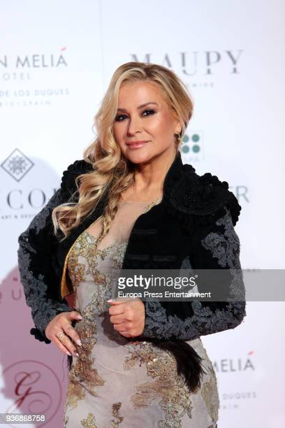 Anastacia attends the Global Gift Gala 2018 presentation at the ThyssenBornemisza Museum on March 22 2018 in Madrid Spain