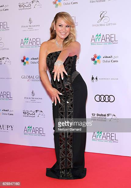Anastacia attends the Global Gift Gala during day six of the 13th annual Dubai International Film Festival held at the Four Seasons Hotel on December...