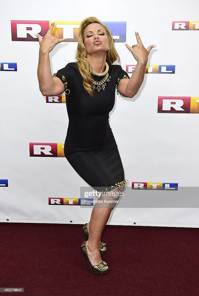 Anastacia attends the offical Television programm-preview of german television production RTL on July 17, 2014 in Hamburg, Germany. She will be a member of the jury of the new music show 'Rising Star', which will be shown nationwide later this year.