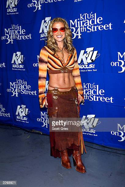 """Anastacia backstage during """"KTU's Miracle on 34th Street"""" hoilday concert at Madison Square Garden in New York City. December 18, 2002. Photo by..."""