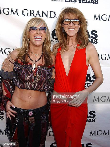 Anastacia Celine Dion during VH1 Divas 2002 Arrivals at MGM Grand Arena in Las Vegas Nevada United States