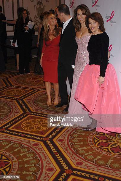 Anastacia David Furnish Elizabeth Hurley and Evelyn Lauder attend The Breast Cancer Research Foundation Presents 'The Very Hot Pink Party' at The...