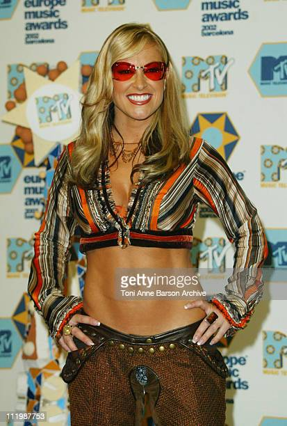 Anastacia during 2002 MTV European Music Awards Press Room at Palau Sant Jordi in Barcelona Spain