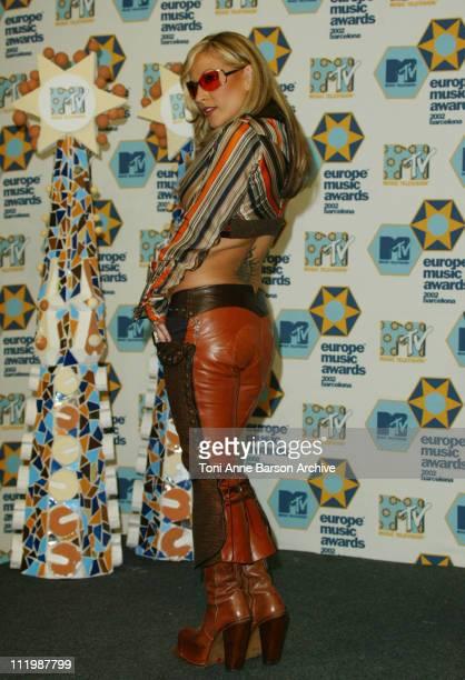 Anastacia during 2002 MTV European Music Awards Press Room at Palau Sant Jordi in Barcelona Spain