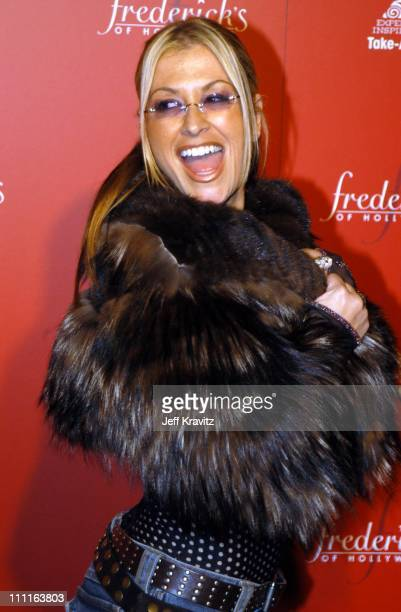 Anastacia during Frederick's of Hollywood Debuts Fall 2003 Collection at Smashbox Studios in Culver City CA United States