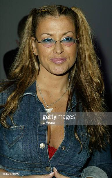 Anastacia during MercedesBenz Shows LA Fashion Week Spring 2004 Frankie B Backstage and Front Row at The Standard Downtown LA in Los Angeles...