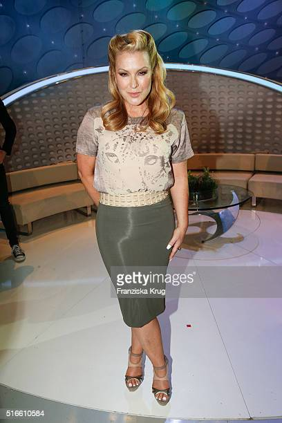 Anastacia during the TV show 'Willkommen bei Carmen Nebel' on March 19 2016 in Magdeburg Germany
