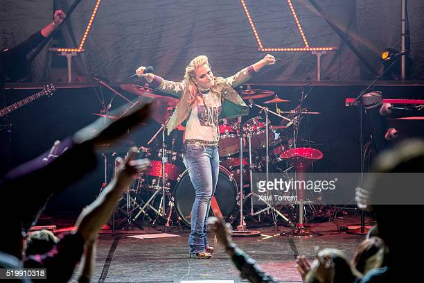 Anastacia performs in concert at Auditori de Barcelona during Festival Milleni on April 8 2016 in Barcelona Spain