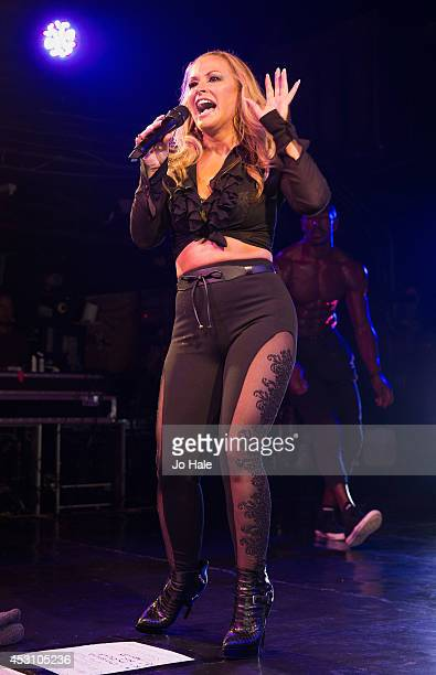 Anastacia performs on stage at GAY on August 2 2014 in London England