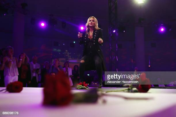 Anastacia performs on stage during the FC Bayern Muenchen Championship party following the Bundesliga match between Bayern Muenchen and SC Freiburg...
