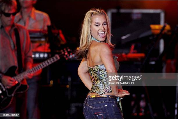 Anastacia performs on stage in Monaco on August 05 2005