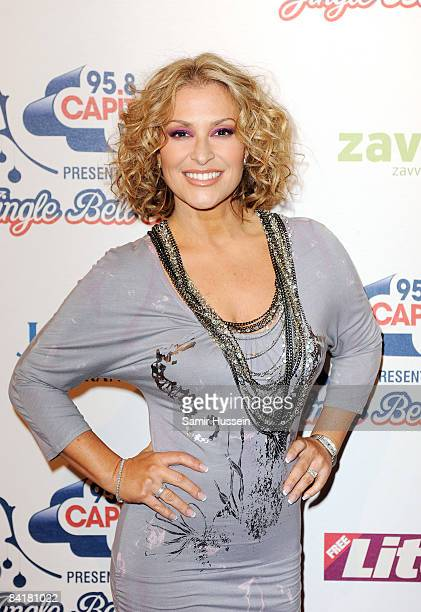 Anastacia poses at The Jingle Bell Ball at the O2 Arena on December 10 2008 in London England