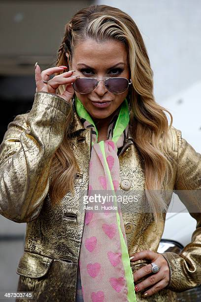 Anastacia sighted leaving the ITV Studios on April 29 2014 in London England
