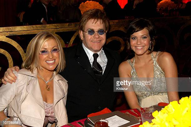 Anastacia Sir Elton John and Mandy Moore during Elton John AIDS Foundation's 11th Annual Oscar party cohosted by In Style and AOL in association with...