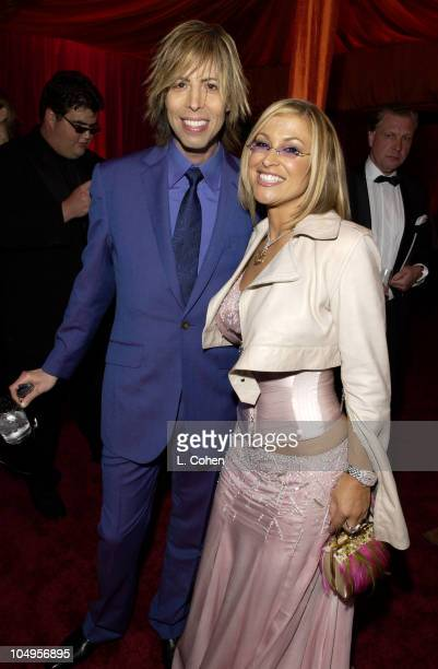 Anastacia Steven Cojocaru during Elton John AIDS Foundation's 11th Annual Oscar party cohosted by In Style and AOL in association with MAC Cosmetics...