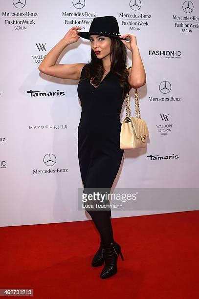 Anastasia Abasova attends the Anja Gockel show during MercedesBenz Fashion Week Autumn/Winter 2014/15 at Brandenburg Gate on January 15 2014 in...