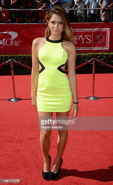 Anastasia Ashley arrives at the 2012 ESPY Awards at Nokia Theatre LA Live on July 11 2012 in Los Angeles California