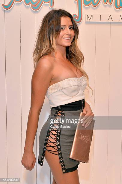 Anastasia Ashley attends the Luli Fama 2016 Collection during FUNKSHION Fashion Week Miami Beach Swim at the FUNKSHION Tent on July 18 2015 in Miami...