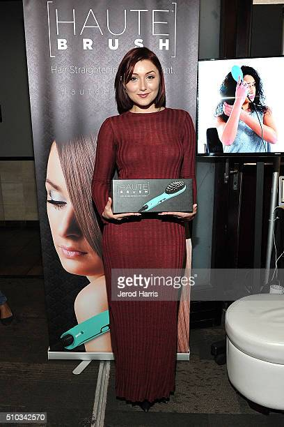 Anastasia Baranova attends the GBK Pre Grammy Lounge at Tom's Urban at LA Live on February 14 2016 in Los Angeles California