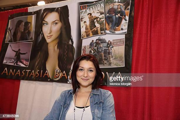 Anastasia Baranova attends the Motor City Comic Con at Suburban Collection Showplace on May 17 2015 in Novi Michigan