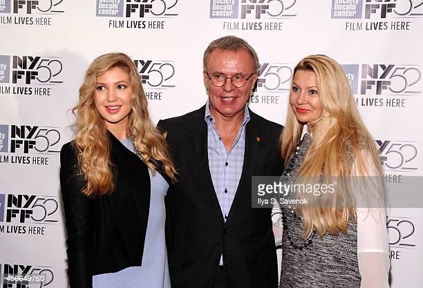 Anastasia Fetisova Slava Fetisov and Lada Fetisova attend the 'Red Army' photo call during the 52nd New York Film Festival at Walter Reade Theater on...