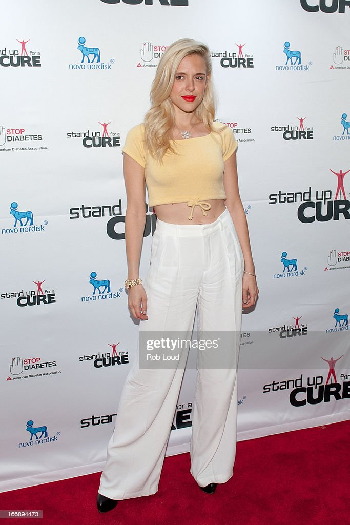 Anastasia Ganias arrives at Stand Up For a Cure at Madison Square Garden on April 17, 2013 in New York City.