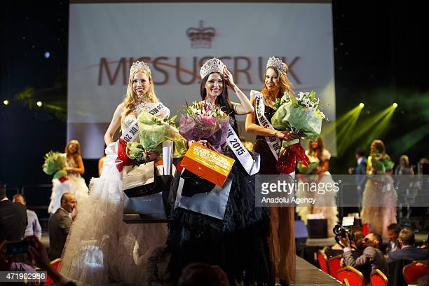 Anastasia Gavris from Estonia wins 'Miss USSR UK' beauty pageant's final show at Troxy Theatre in London England on May 1 2015 Miss USSR UK is a...
