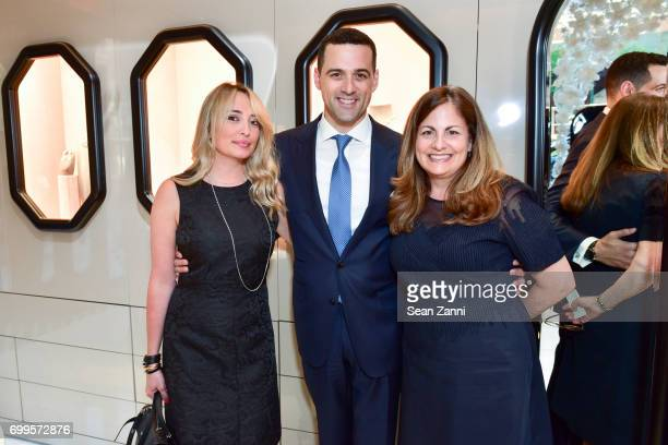 Anastasia Gorka Zachary Izzi and Laurie Adorno attend QUEST Magazine Baubles Bubbly at Nirav Modi Boutique on June 21 2017 in New York City