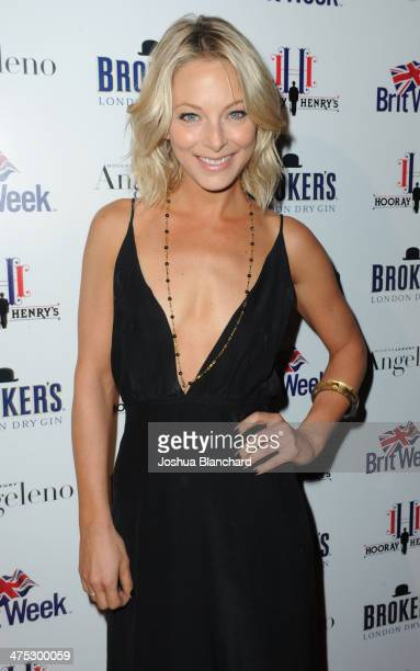 Anastasia Griffith arrives at BritWeek Oscar Party Celebrating Past Present And Future Oscar Winners at Hooray Henry's on February 26 2014 in West...