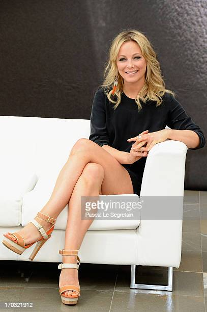 Anastasia Griffith poses at a photocall during the 53rd Monte Carlo TV Festival on June 10 2013 in MonteCarlo Monaco