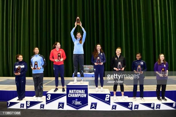 Anastasia Kalonji of Penn State, Karolina Nixon of Columbia, Andrea Vittoria Rizzi of St. John's, Anne Cebula of Columbia, Amanda Sirico of Notre...