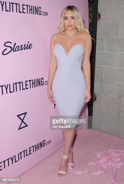 Anastasia Karanikolaou arrives at PrettyLittleThing Campaign Launch For PLT SHAPE With Brand Ambassador Anastasia Karanikolaou on April 11 2017 in...