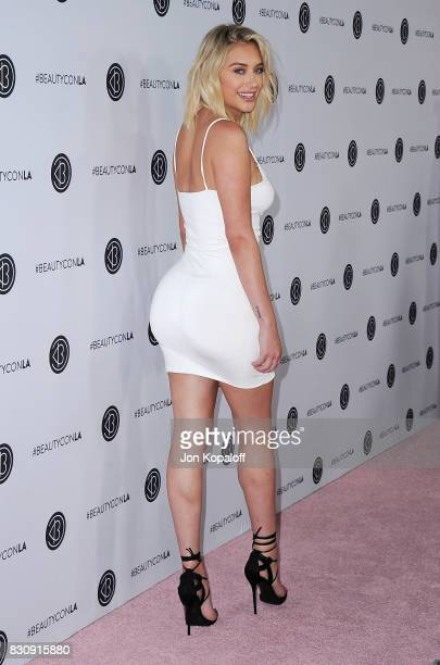 Anastasia Karanikolaou arrives at the 5th Annual Beautycon Festival Los Angeles at Los Angeles Convention Center on August 12 2017 in Los Angeles...