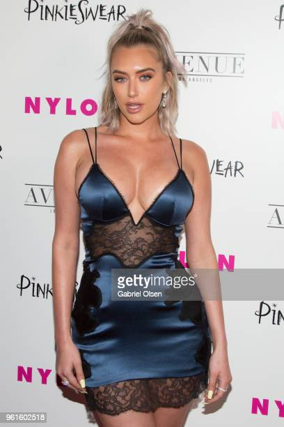 Anastasia Karanikolaou arrives for NYLON Hosts Annual Young Hollywood Party at Avenue on May 22 2018 in Los Angeles California