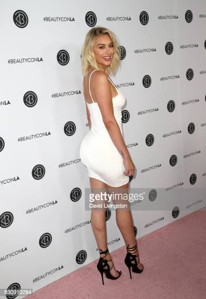 Anastasia Karanikolaou attends Day 1 of the 5th Annual Beautycon Festival Los Angeles at the Los Angeles Convention Center on August 12 2017 in Los...