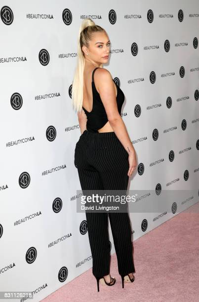 Anastasia Karanikolaou attends Day 2 of the 5th Annual Beautycon Festival Los Angeles at the at Los Angeles Convention Center on August 13 2017 in...