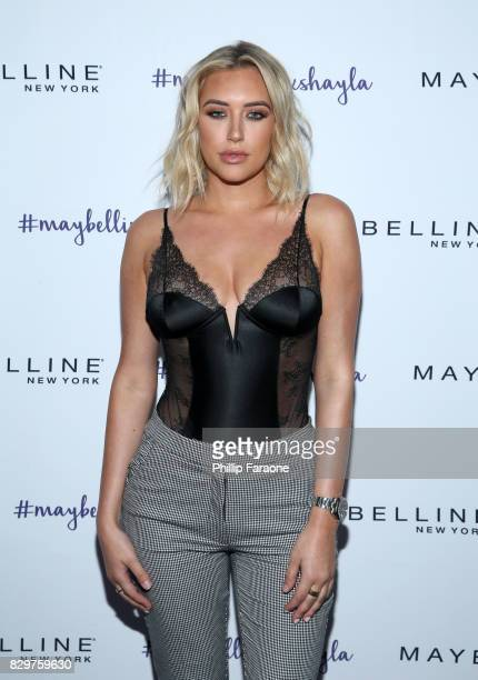 Anastasia Karanikolaou attends Maybelline New York Celebrates First Ever Cobranded Product Collection With Beauty Influencer Shayla Mitchell at 1OAK...