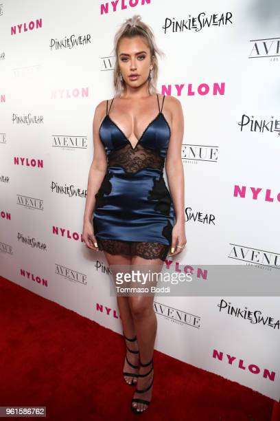 Anastasia Karanikolaou attends NYLON's Annual Young Hollywood Party sponsored by Pinkie Swear at Avenue Los Angeles on May 22, 2018 in Hollywood,...