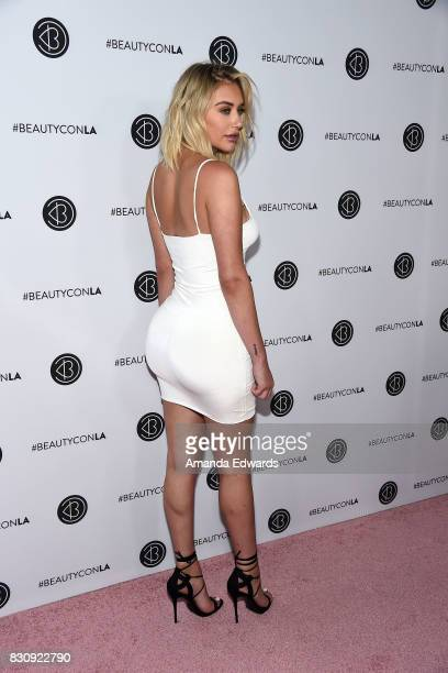 Anastasia Karanikolaou attends the 5th Annual Beautycon Festival Los Angeles at the Los Angeles Convention Center on August 12 2017 in Los Angeles...