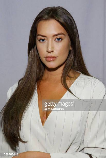 Anastasia Karanikolaou attends the Fashion Palette front row during New York Fashion Week The Shows at Industria Studios on September 7 2018 in New...
