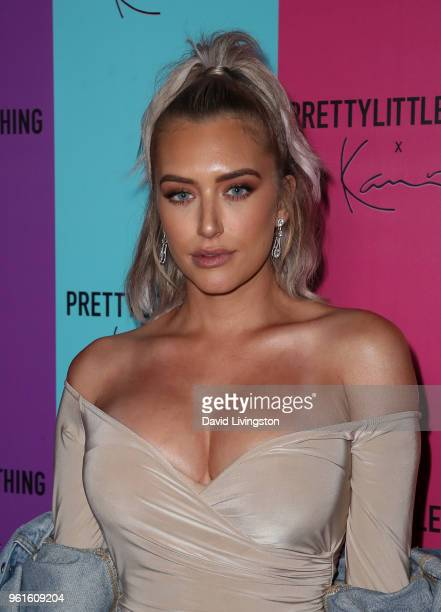 Anastasia Karanikolaou attends the PrettyLittleThing x Karl Kani event at Nightingale Plaza on May 22, 2018 in Los Angeles, California.