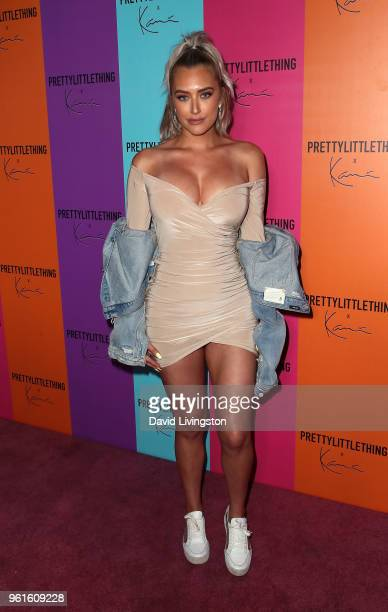 Anastasia Karanikolaou attends the PrettyLittleThing x Karl Kani event at Nightingale Plaza on May 22 2018 in Los Angeles California