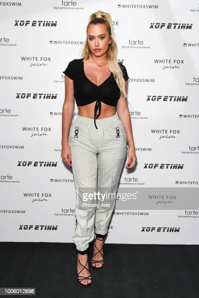 Anastasia Karanikolaou attends White Fox Boutique Swimwear Launch Of 100% Salty at Catch on July 26 2018 in West Hollywood California
