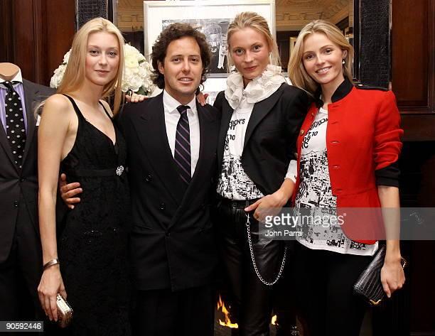 Anastasia Khozzisova David Lauren Charlotte Khozzisova and Valentina Zelyaeva attend the Ralph Lauren celebration of Fashion's Night Out with The NY...