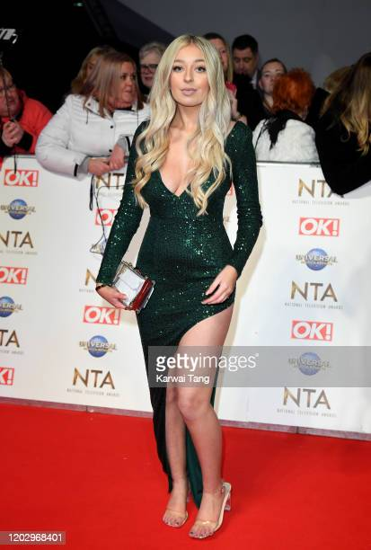 Anastasia Kingsnorth attends the National Television Awards 2020 at The O2 Arena on January 28 2020 in London England